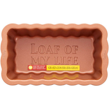 """Wilton Autumn Copper Scallop """"Loaf Of My Life"""" Loaf Pan, 2105-0-0537"""