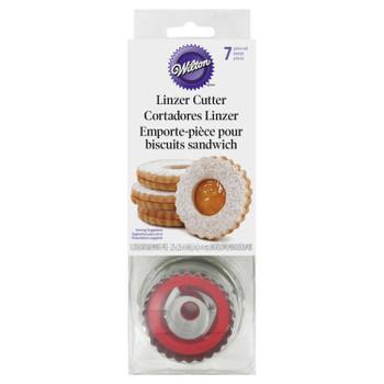 Wilton 7 Piece Linzer Cut-Out Cookie Cutter Set, 2308-0112