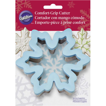 Wilton Blue Snowflake Comfort Grip Holiday Cookie Cutter, 2310-592
