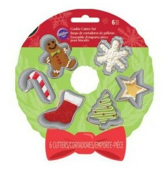 Wilton 6 Piece Mini Holiday Cookie Cutter set, 2308-5456