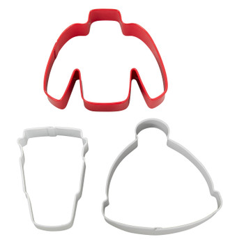 Wilton Sweater, Hat, and Latte, 3 Piece Cookie Cutter Set, 2308-0-0224