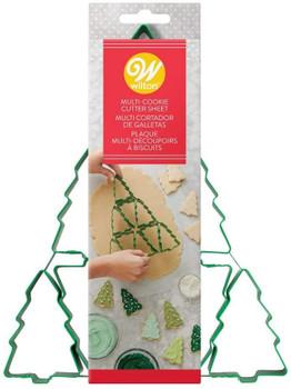Wilton Christmas Tree Multi-Cookie Cutter Sheet, 9 total cutouts, 2308-0-0223