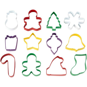 Wilton 12 Piece Christmas Metal Cookie Cooker Set, 2308-3889
