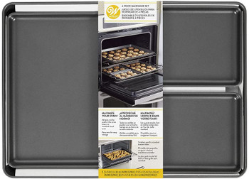 Wilton 4-Piece Cookie Sheet Oven Maximizer Baking Set, 2105-0-0514