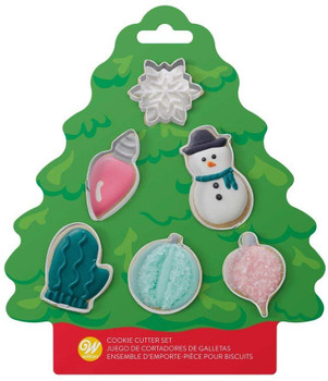Wilton 6 Piece Christmas Tree Mini Cookie Cutter Set, 2308-0-0225