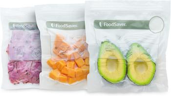 Vacuum Seal Zipper Bags, 1 Quart, 18-Count, fits FoodSaver, FSFRBZ0216NP