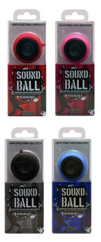 Amplified Sound Ball Rechargeable Mini Speaker, Red, SPBAL