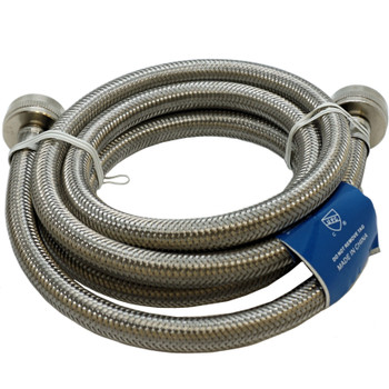 """Supco ⅜"""" X 6' Stainless Steel Inlet Hose for Washers, 3806FFSS"""