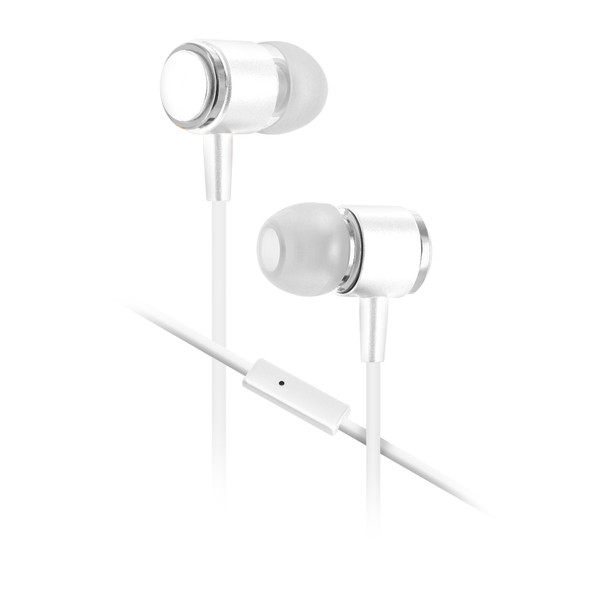 58b7c85bbb8 Sentry Gold Pro Metal Earbuds with In-Line Mic & Deluxe Case, White ...