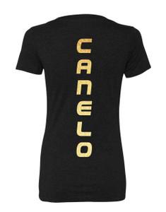 Canelo Alvarez Gold Logo Womens Shirt