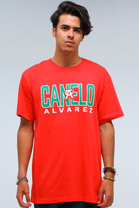 Straight Red Mens Tee
