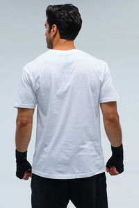 Straight White Mens Tee