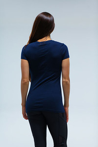 Western Womens sporty V Neck Navy