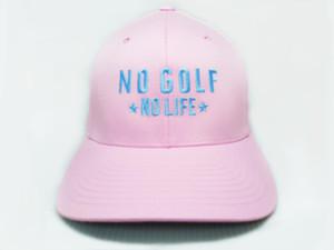 No Golf No Life Pink Hat