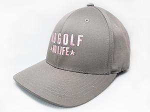 No Golf No Life Light Grey Hat