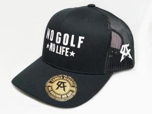 No Golf No Life Black Snap Back Hat