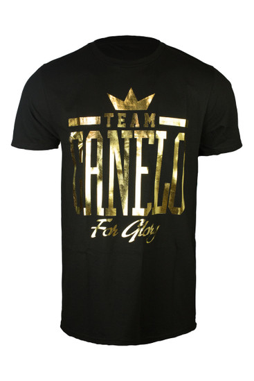 "Team ""Canelo"" In gold foil."