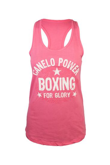 """""""Canelo"""" Alvarez Legends racer back in hot pink."""