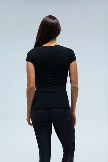 Power Womens sporty V Neck Black