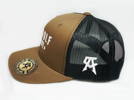 No Golf No Life Coyote Black Snap Back Hat