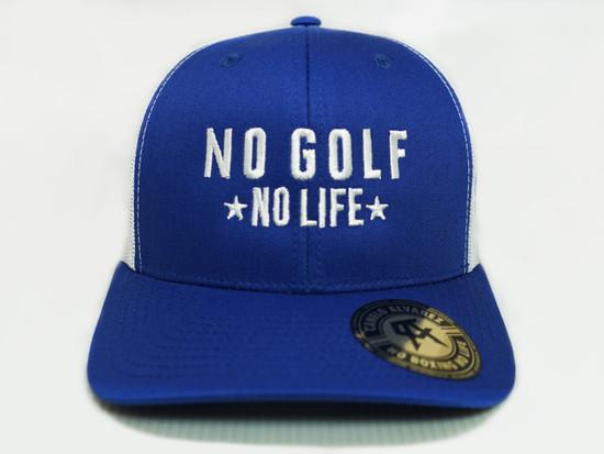 No Golf No Life Royal White Snap Back