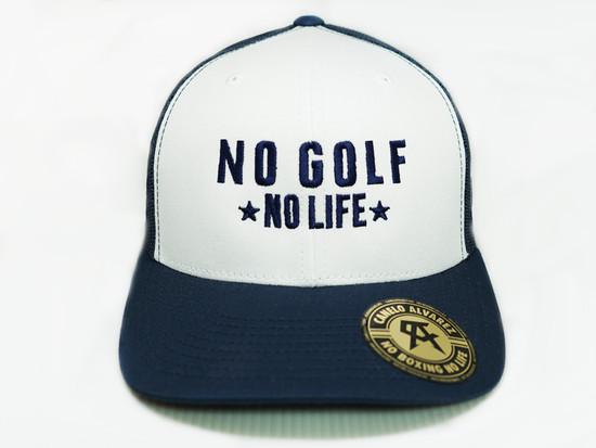 Copy of No Golf No Life White Navy Snap Back