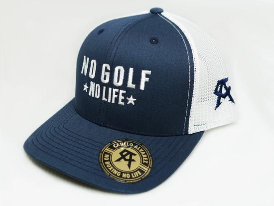 No Golf No Life Navy White Snap Back