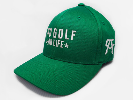No Golf No Life Green Fitted Hat