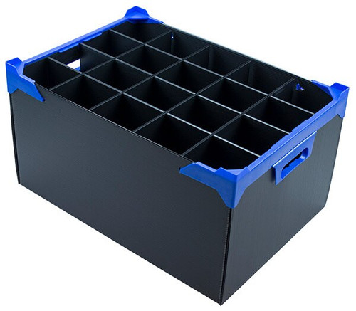 Stacking Glassware Box with 20 Compartments