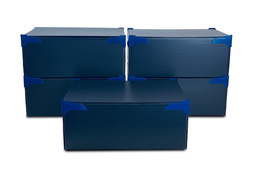 STACKING STORAGE BOXES   PACK OF 5   MEDIUM   HEIGHT 220MM