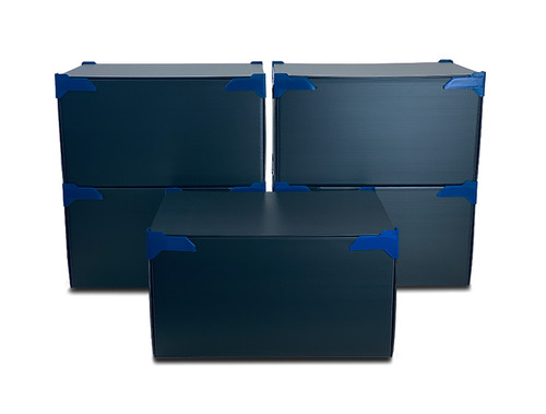 STACKING STORAGE BOXES | PACK OF 5 | LARGE | HEIGHT 260MM