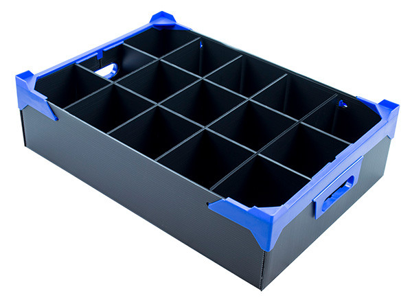 Corrugated Plastic Box with 15 Cells