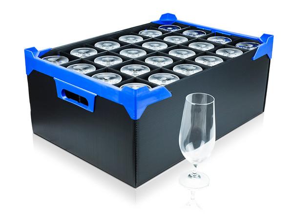 Correx Glassware Box for 24 Glasses