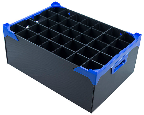 Champagne Glass Box with 35 Cells