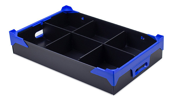 Stackable Shallow Tray with 6 Cells