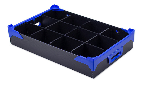 Crockery Storage Box with 12 Compartments
