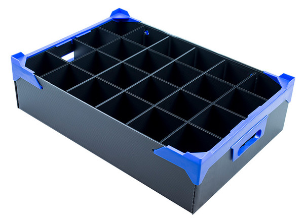 GLASSWARE BOX | PACK OF 5 | 24 CELLS| MAX GLASS SIZE H120 X W78MM