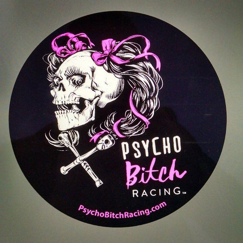 Psycho Bitch Racing Sticker