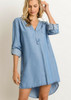 Hi/Lo Denim Dress - 3526