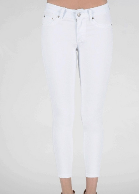 Ankle Length White Skinny Jean - C202
