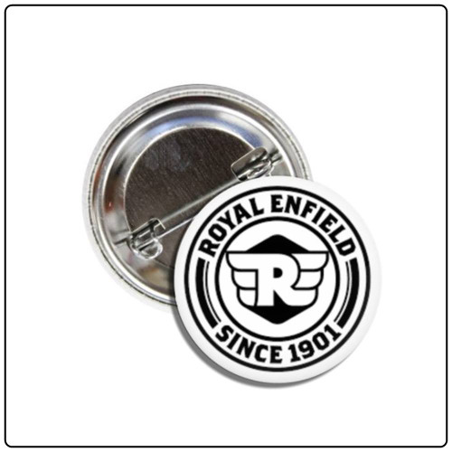 "Royal Enfield ""R"" Button"