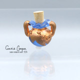 Vessel,  Electro Plated Copper* on Pale Blue  BGV21-4651