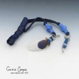 Braid Wrap, Royal Blue Body, Light Blue Beads Feather & Crystal BW21-4660
