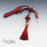 Braid Wrap, Red Body, Red Beads, Feather & Crystal BW21-4662