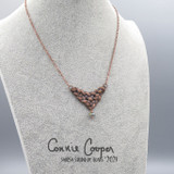 Copper Electroplated Knot w/Silverglass Bead EPN21-4769