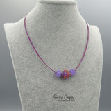 Changeable 3-Bead Choker (Crocus/Coral) GBN17-3450