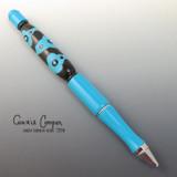 Bead Pen Turquoise & Black PEN18-3616