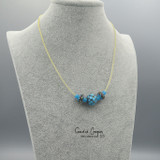 Fancy 3-Bead in Turquoise & Brown GBN20-4210