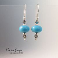 MIS Turquoise w/Smoky Crystal GBE17-3462