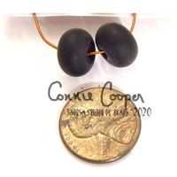 Beads, Pair, Matte Black LBS20-4402
